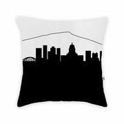 Charleston WV Skyline Large Throw Pillow
