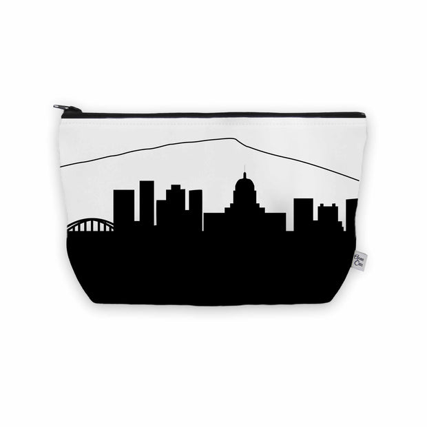 Charleston WV Skyline Cosmetic Makeup Bag