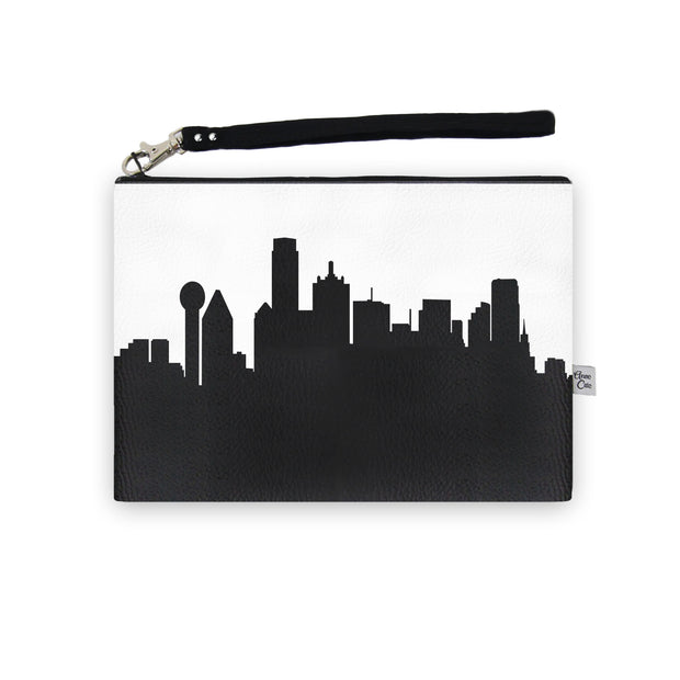 Dallas TX Skyline Wristlet Clutch (Vegan Leather)