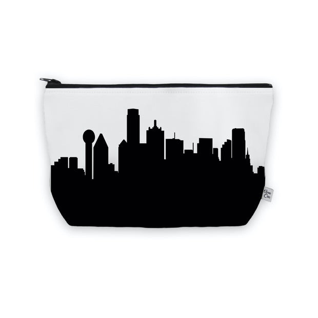 Dallas TX Skyline Cosmetic Makeup Bag