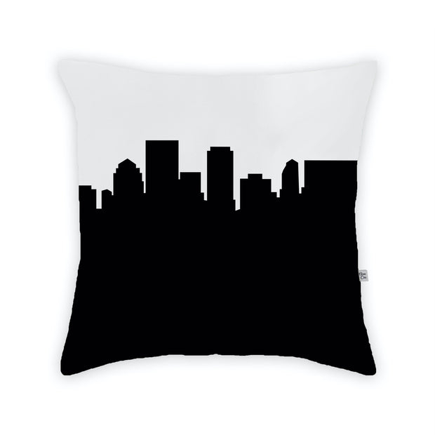 Dayton OH Skyline Large Throw Pillow