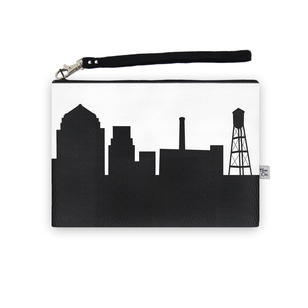 Durham NC Skyline Wristlet Clutch (Vegan Leather)