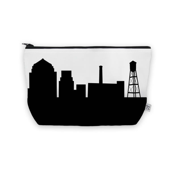 Durham NC Skyline Cosmetic Makeup Bag