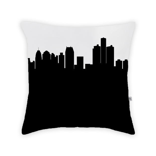 Detroit MI Skyline Large Throw Pillow