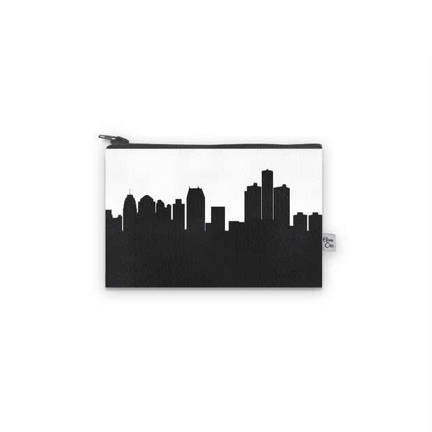 Detroit MI Skyline Mini Wallet (Vegan Leather)