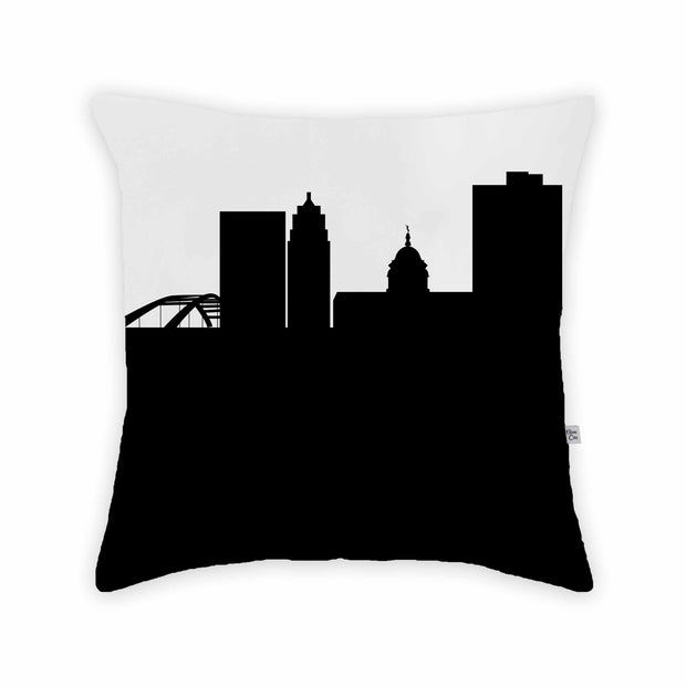 Fort Wayne IN Skyline Large Throw Pillow