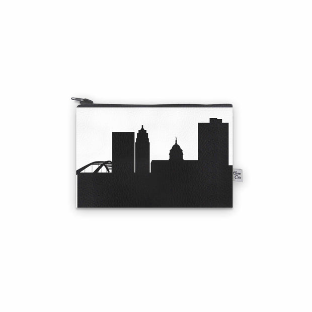 Fort Wayne IN Skyline Mini Wallet (Vegan Leather)
