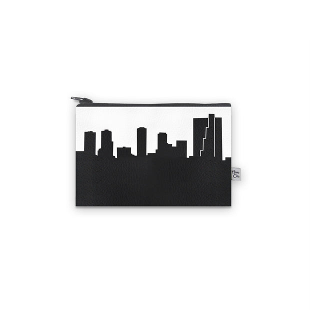 Fort Worth TX Skyline Mini Wallet (Vegan Leather)