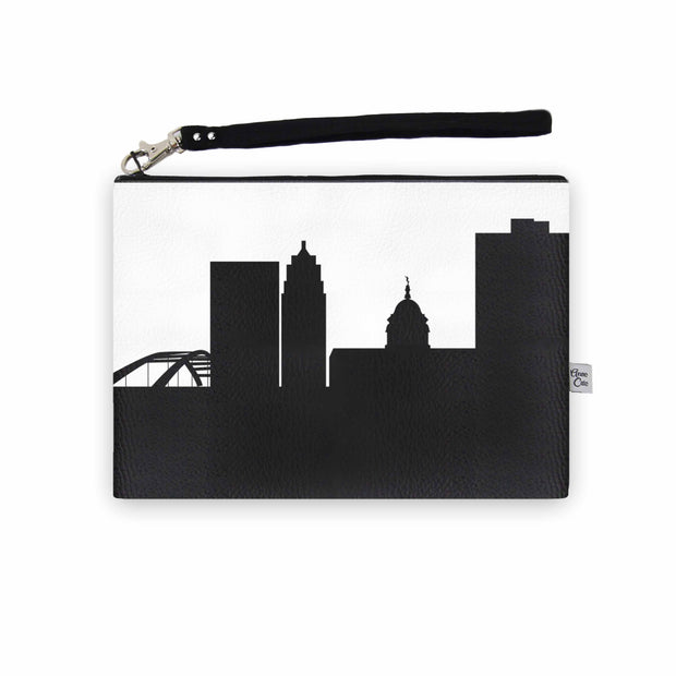 Fort Wayne IN Skyline Wristlet Clutch (Vegan Leather)