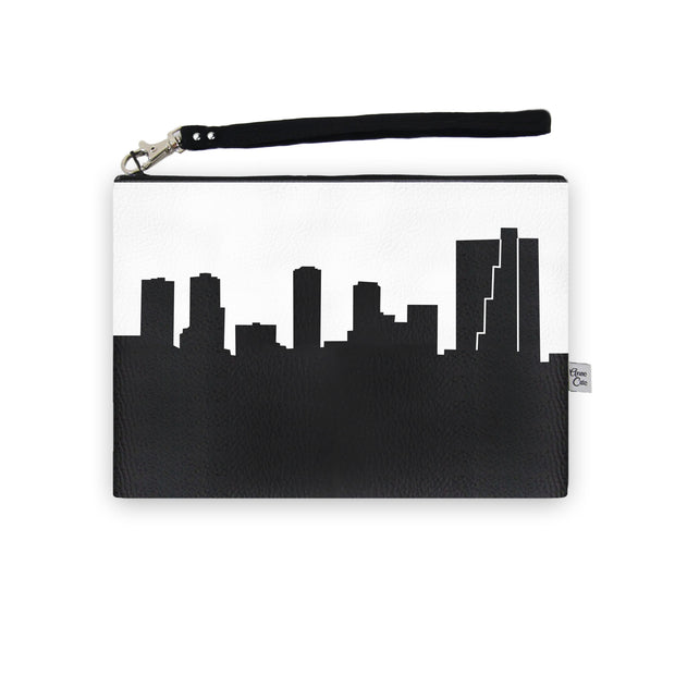 Fort Worth TX Skyline Wristlet Clutch (Vegan Leather)
