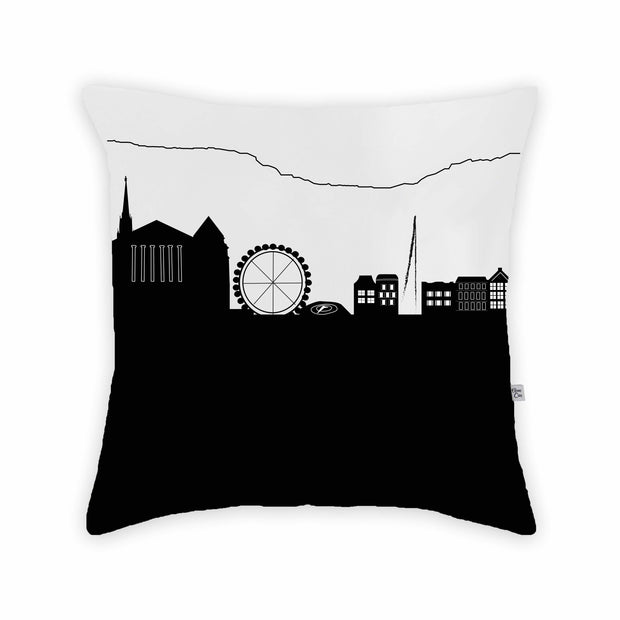 Geneva Switzerland Skyline Large Throw Pillow