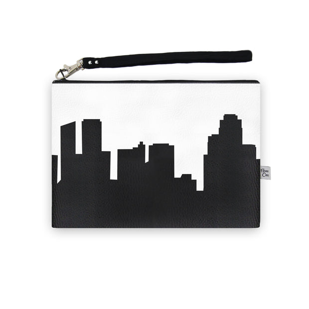 Grand Rapids MI Skyline Wristlet Clutch (Vegan Leather)