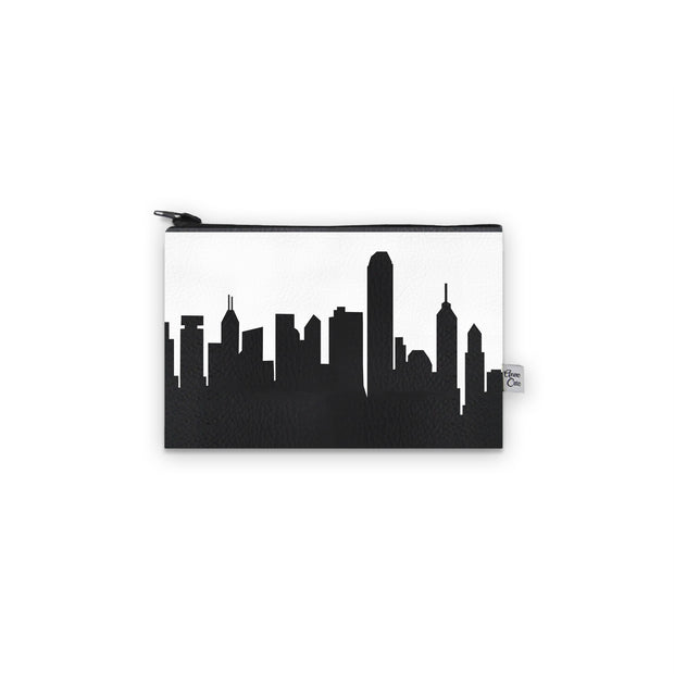 Hong Kong China Skyline Mini Wallet (Vegan Leather)