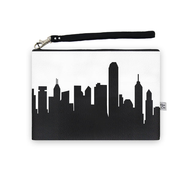 Hong Kong China Skyline Wristlet Clutch (Vegan Leather)