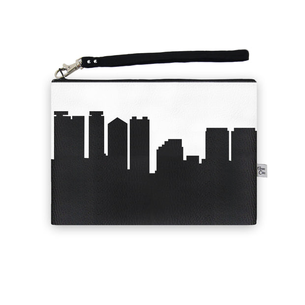 Honolulu HI Skyline Wristlet Clutch (Vegan Leather)