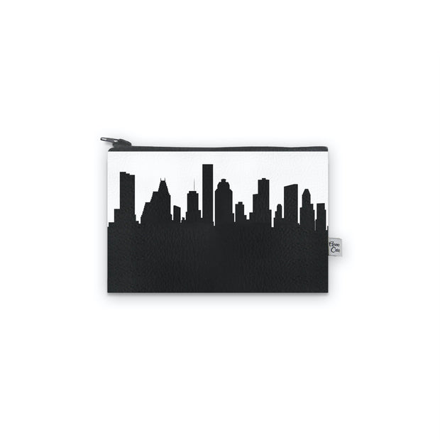 Houston Texas Skyline Mini Wallet (Vegan Leather)