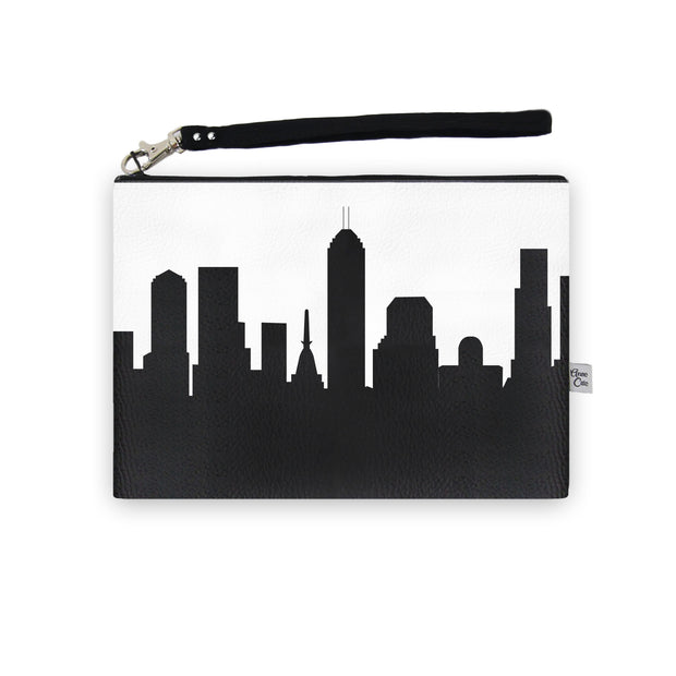 Indianapolis IN Skyline Wristlet Clutch (Vegan Leather)
