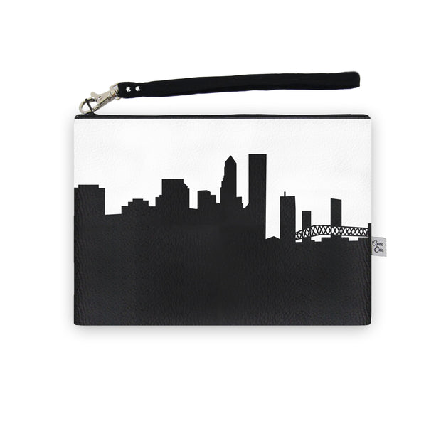 Jacksonville FL Skyline Wristlet Clutch (Vegan Leather)