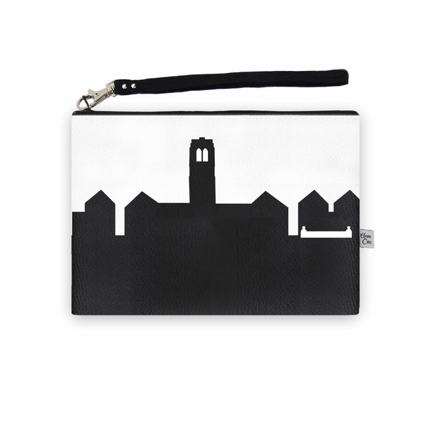 University Heights OH (John Carroll Univ.) Skyline Wristlet Clutch (Vegan Leather)
