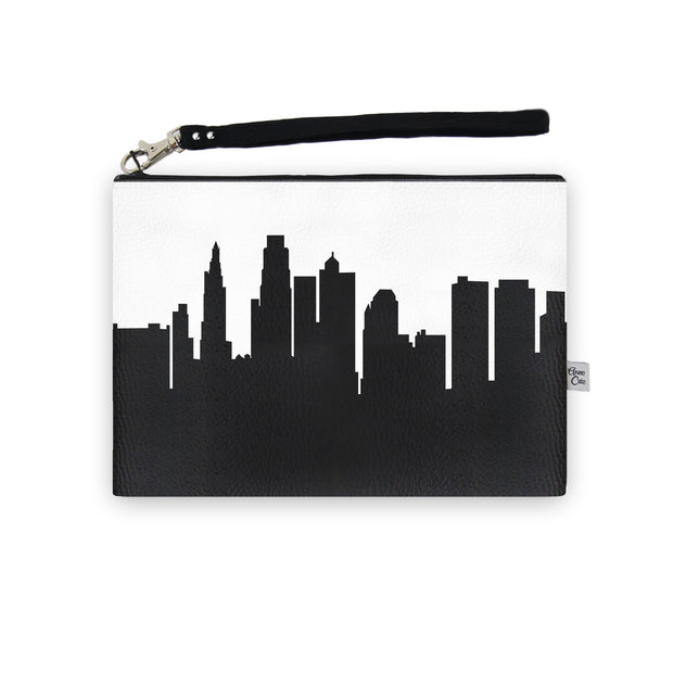 Kansas City MO Skyline Wristlet Clutch (Vegan Leather)