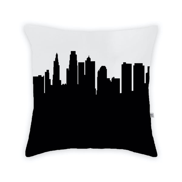 Kansas City Large Throw Pillow by Anne Cate