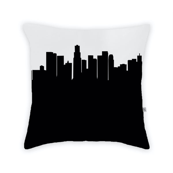 Los Angeles Large Throw Pillow by Anne Cate