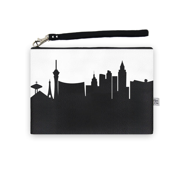 Las Vegas NV Skyline Wristlet Clutch (Vegan Leather)