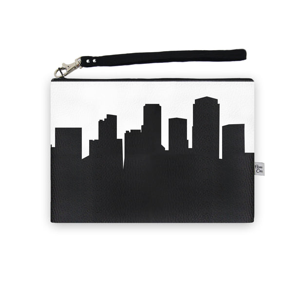 Little Rock AR Skyline Wristlet Clutch (Vegan Leather)