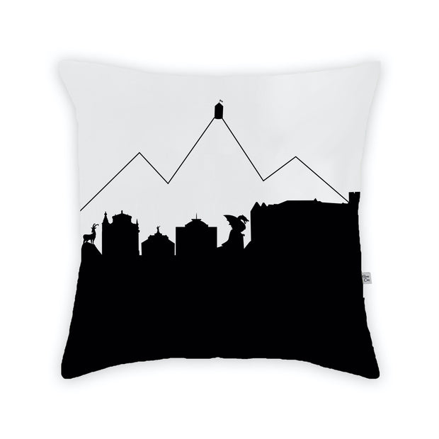 Ljubljana Slovenia Skyline Large Throw Pillow