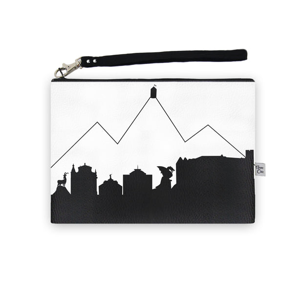 Ljubljana Slovenia Skyline Wristlet Clutch (Vegan Leather)