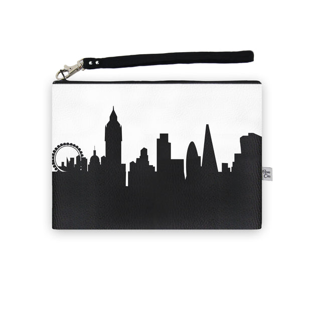 London England Skyline Wristlet Clutch (Vegan Leather)