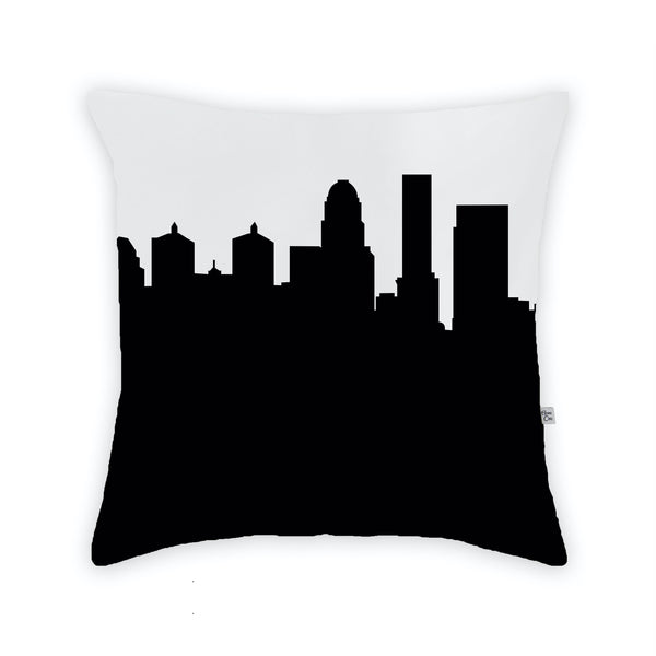 Louisville Large Throw Pillow by Anne Cate