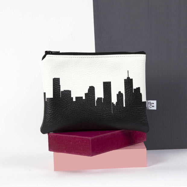 Tulsa OK (Univ. of Tulsa) Skyline Mini Wallet (Vegan Leather)