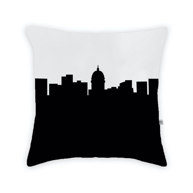 Madison WI Skyline Large Throw Pillow