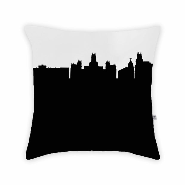 Madrid Spain Skyline Large Throw Pillow