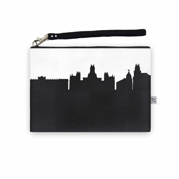 Madrid Spain Skyline Wristlet Clutch (Vegan Leather)