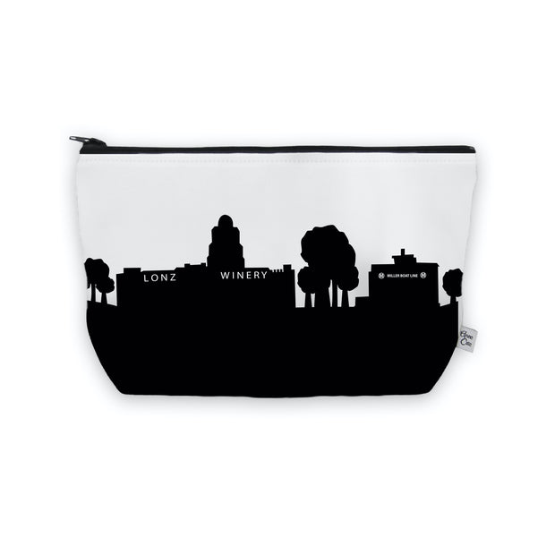 Middle Bass Island OH Skyline Cosmetic Makeup Bag