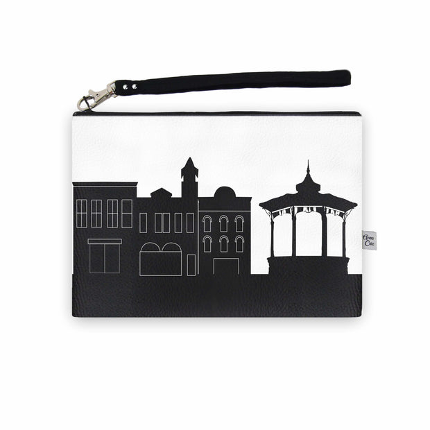 Medina OH Skyline Wristlet Clutch (Vegan Leather)