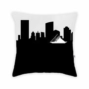 Milwaukee WI Skyline Large Throw Pillow
