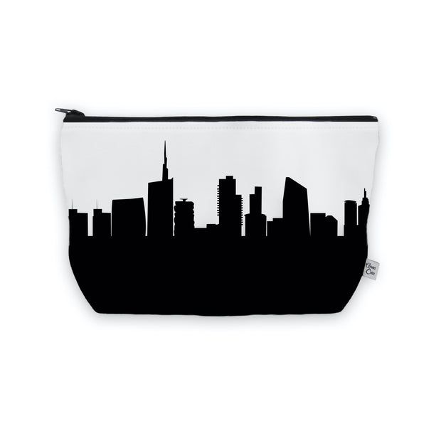 Milan Italy Skyline Cosmetic Makeup Bag