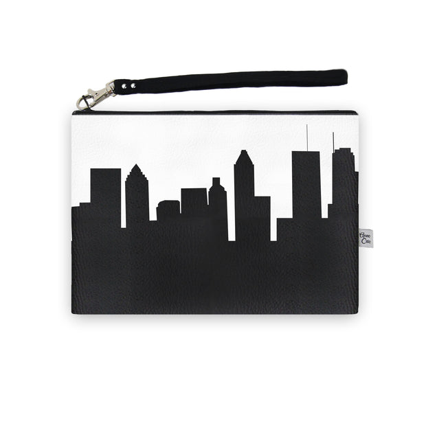 Montreal Canada Skyline Wristlet Clutch (Vegan Leather)