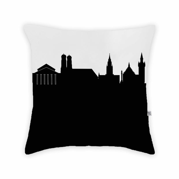 Munich Germany Skyline Large Throw Pillow