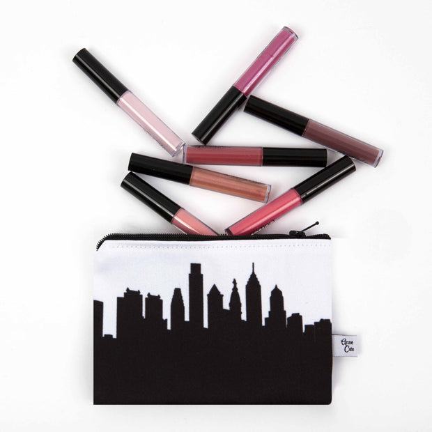 Hong Kong China Skyline Mini Purse