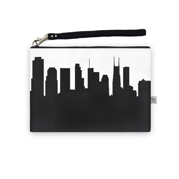 Nashville TN Skyline Wristlet Clutch (Vegan Leather)