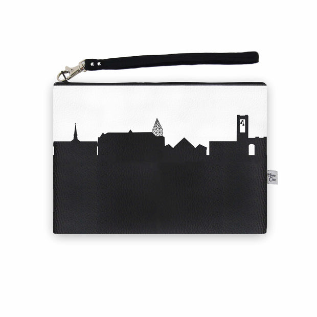 North Canton OH Skyline Wristlet Clutch (Vegan Leather)