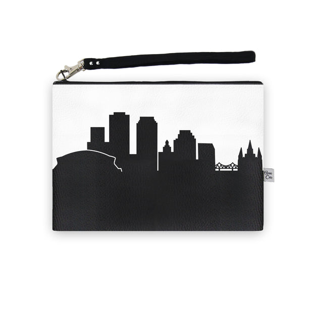 New Orleans LA Skyline Wristlet Clutch (Vegan Leather)