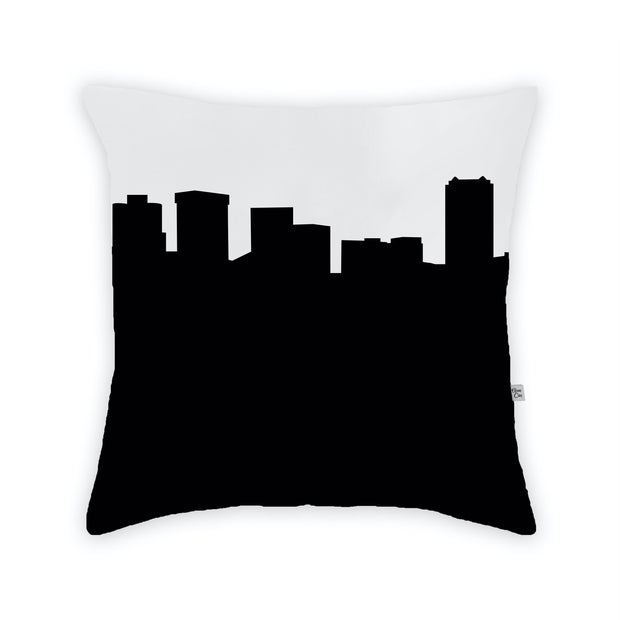Norfolk VA Skyline Large Throw Pillow