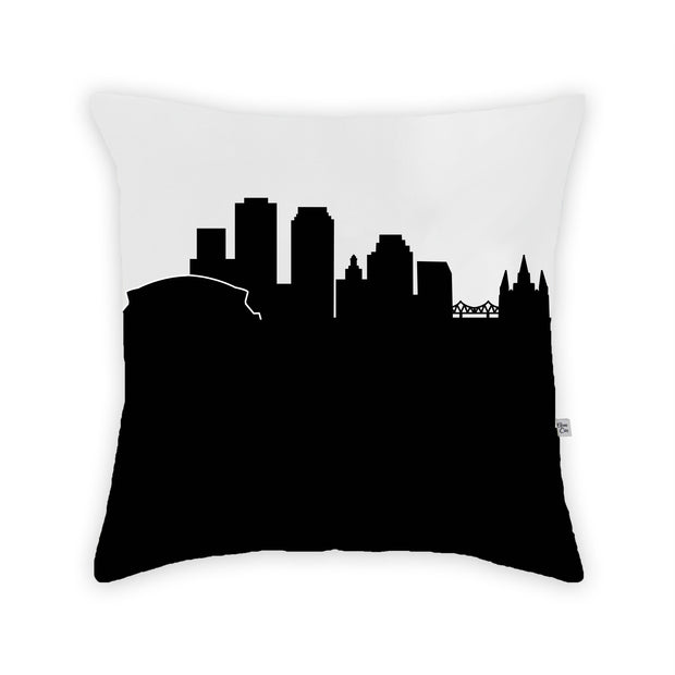 New Orleans LA Skyline Large Throw Pillow
