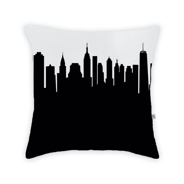 New York City Large Throw Pillow by Anne Cate