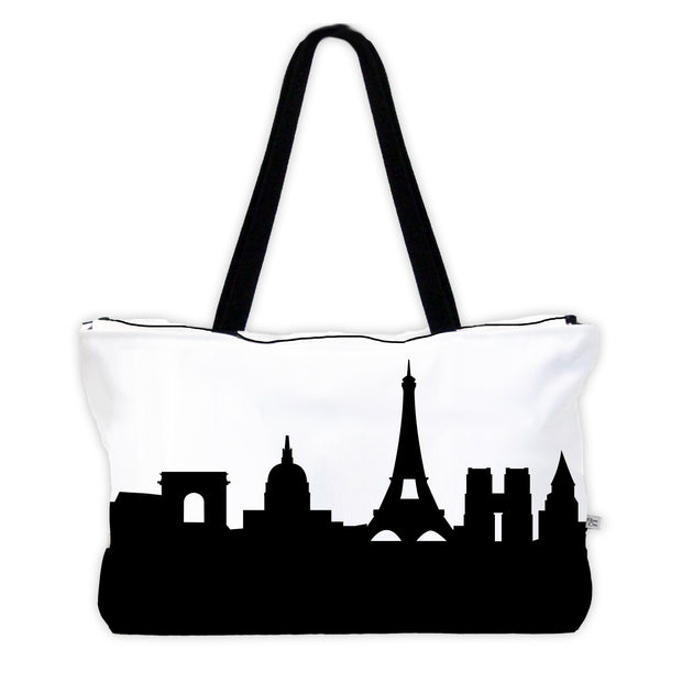Paris France Skyline Weekender Tote